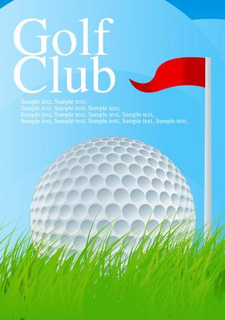 Golf Ball Drawing Stock Vector - 8643720