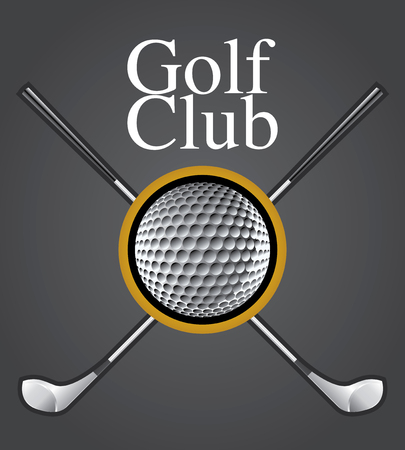 Golf Club Design Element Drawing  Illustration