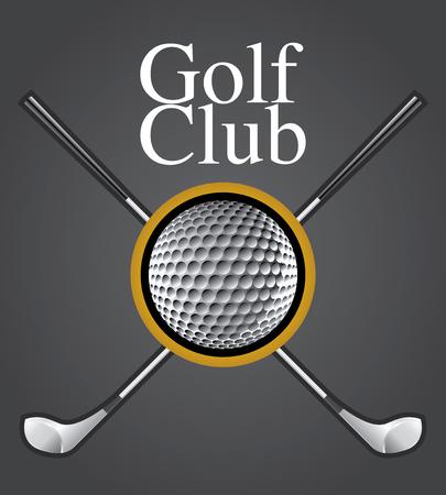 golfclub: Golf Club Ontwerp element tekening