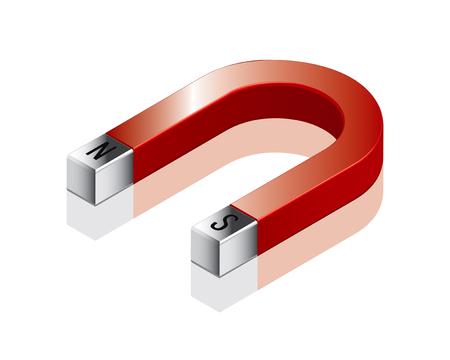 magnetismo: Magnete a ferro di cavallo di disegno