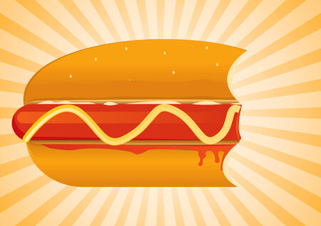 Hot Dog Set Drawing Vector