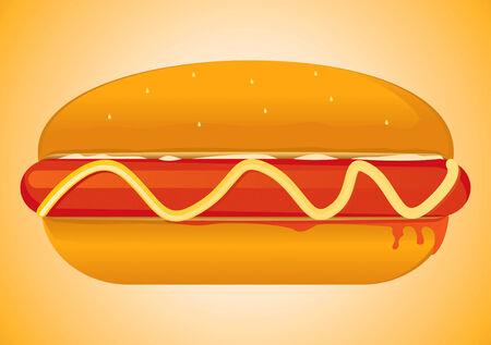 Hot Dog Drawing Vector
