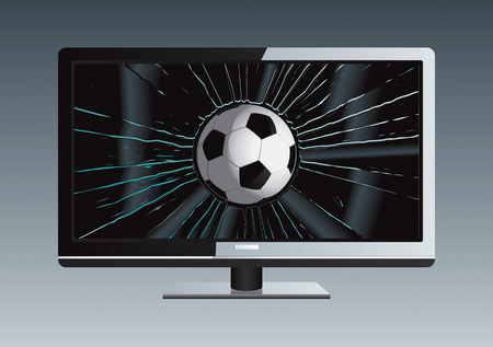 LCD TV Broken Ball Drawing Stock Vector - 8643789