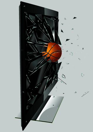 LCD TV Broken Ball  Vector