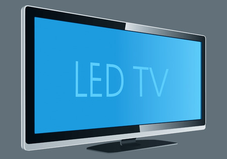 LED TV Drawing Stock Vector - 8643732