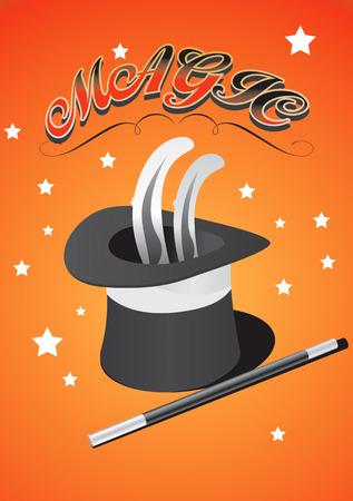 vectorel magic hat drawing Stock Vector - 8643756