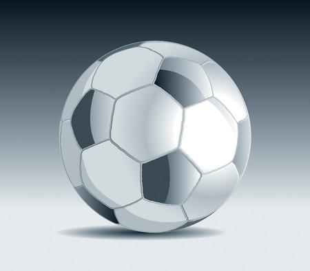 olympic stadium: Metal Soccer Ball Drawing Illustration