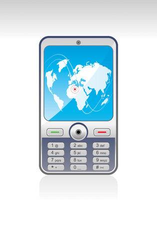 electronic organizer: Mobil Phone  Illustration