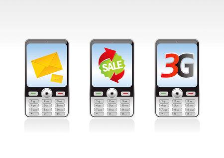 mobil: Mobil Phone  Illustration