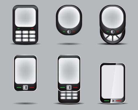 Mobil Phone Set Drawing Stock Vector - 8643803