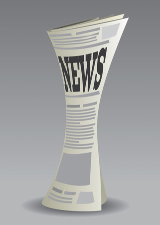 rolled paper: Newspaper Set Drawing
