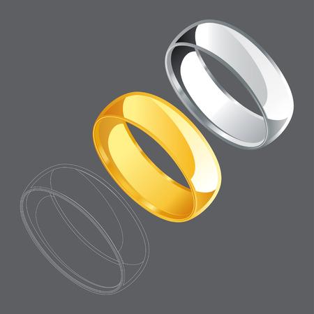vows: Ring Set Drawing