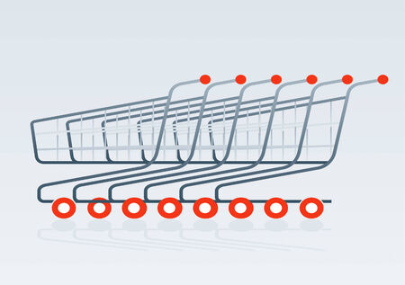 successively: Shopping cart drawing