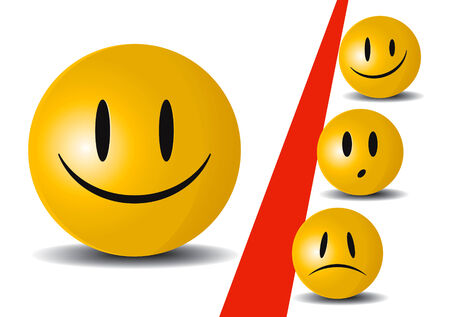Cute smile icons Stock Vector - 8643773
