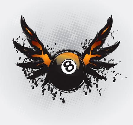 Dibujo de elemento de diseño de Snooker
