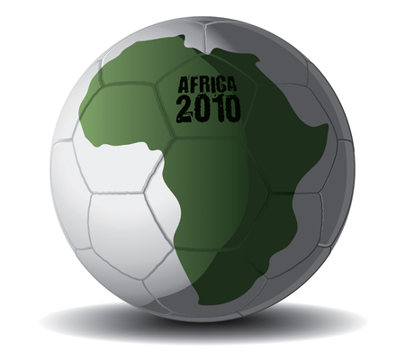 fast ball: Soccer Ball Africa 2010 drawing Illustration