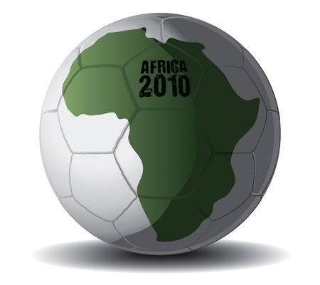 olympic stadium: Soccer Ball Africa 2010 drawing Illustration