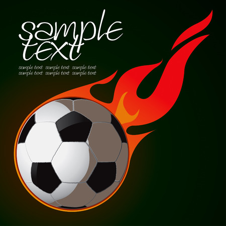 Soccer Fire Ball Drawing Stock Vector - 8643828