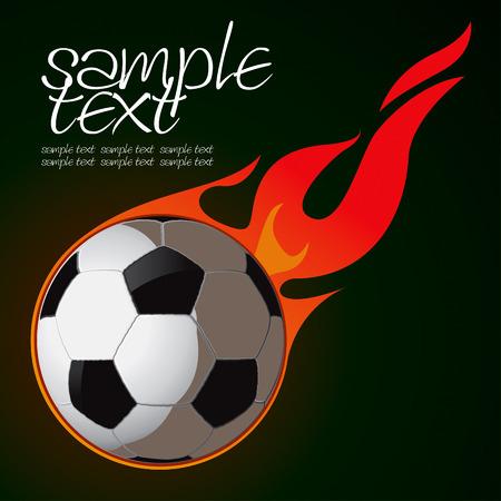fire team: Soccer Fire Ball Drawing Illustration
