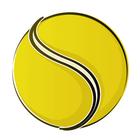 tennis racquet: Dibujo de tenis Ball 2