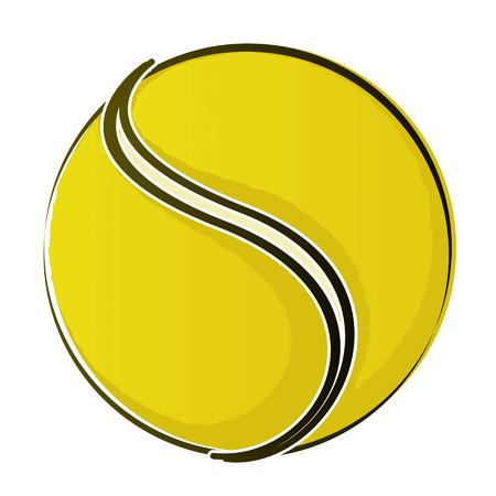 racquet: Tennis Ball 2 Drawing