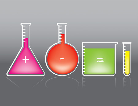 sustancias toxicas: Dibujo de Color de tubo de ensayo Vectores
