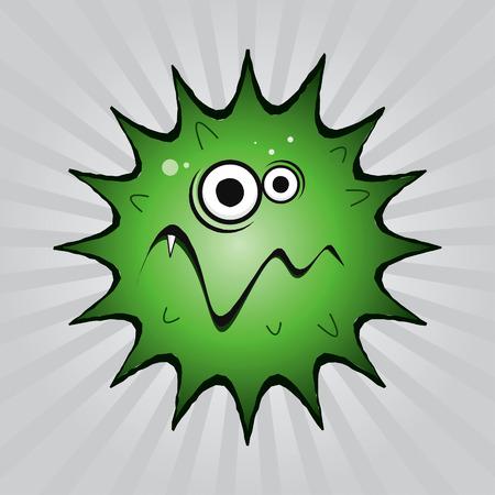 Virus drawing Stock Vector - 8643809