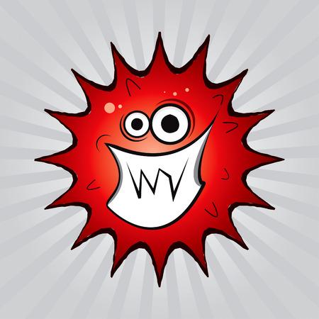 Virus drawing Stock Vector - 8643795