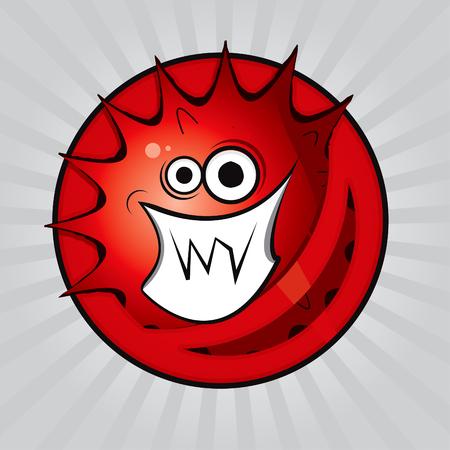 Virus drawing Stock Vector - 8643810