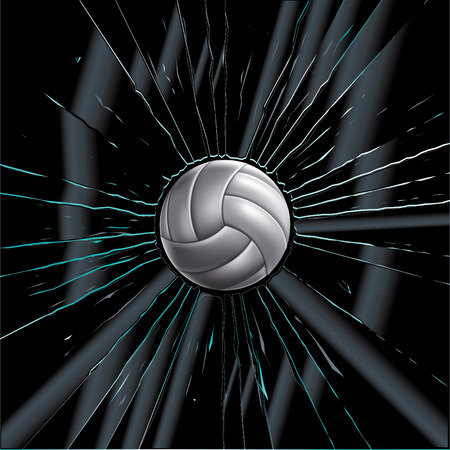 shattered glass: Volleyball Ball Set Drawing Illustration