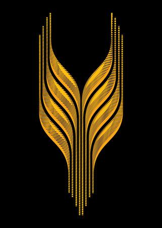 gravure: Wheat Set 3 Design Drawing