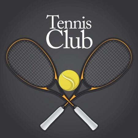 Tennis Design Element Set Drawing Stock Vector - 8643845