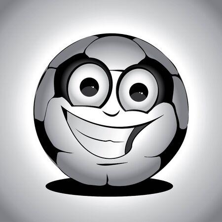 eye ball: Gray cute soccer ball on the floor drawing