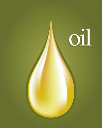 aceite de oliva: Gotas de aceite de oliva verde en el dibujo del piso