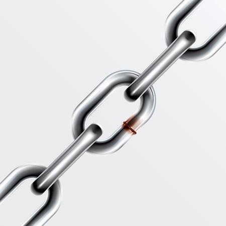 broken link: Gray ha sido reparado en el piso de la cadena Vectores
