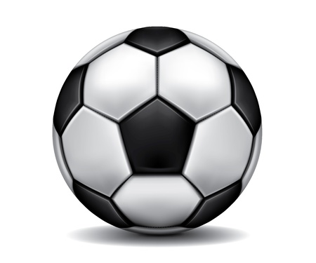 soccerball: Gray realistic soccer ball on the floor
