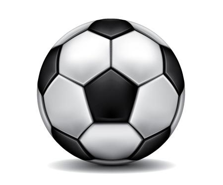 Gray realistic soccer ball on the floor Stock Vector - 11023583