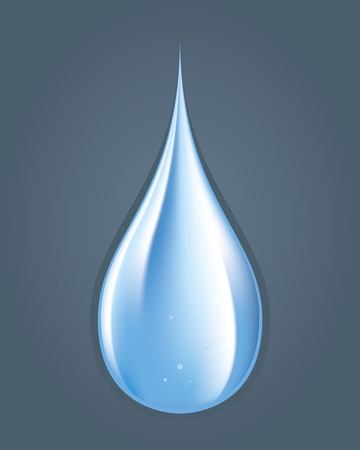 Color drawing of a drop of water on the floor Illustration
