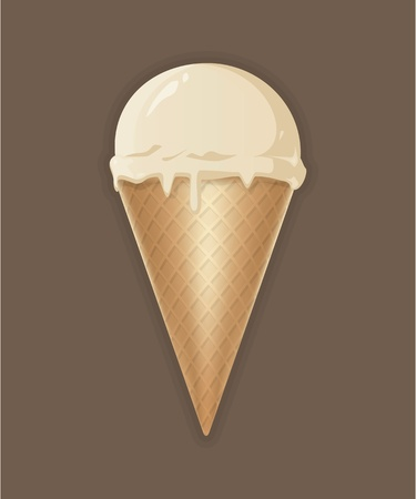 Coloured drawing of ice cream on the floor Vector