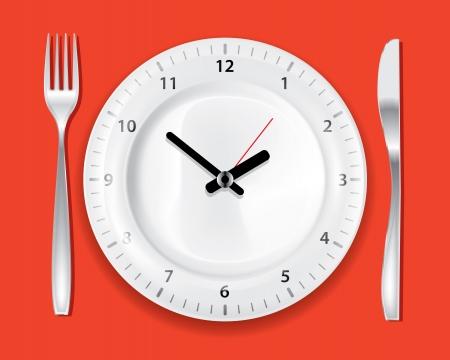 eating fast food: Tiempo de cocci�n de naranja en el dibujo piso