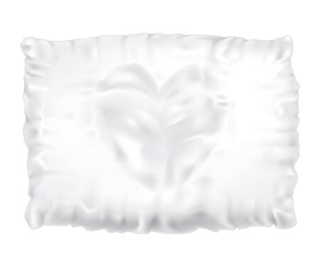 headboard: Drawing of a feather pillow on a white background