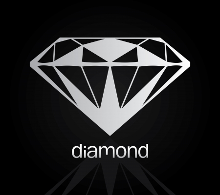 Vector drawing of the diamond  diamond set 4  Vector