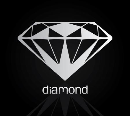 Vector drawing of the diamond  diamond set 4 Stock Vector - 23073029