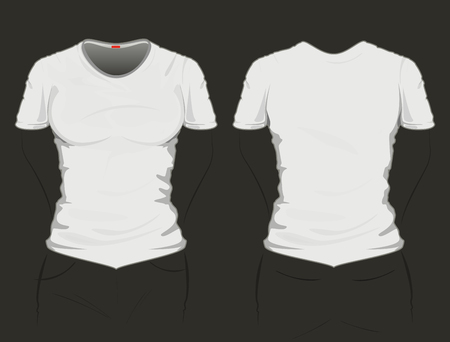 Grey t-shirt template, drawing on the floor Vector