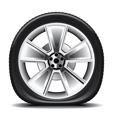 neumaticos: Dibujo del neumático sobre un fondo blanco Vectores