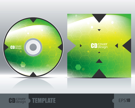 CD Cover Design Template Set 2. Vector Royalty Free Cliparts ...
