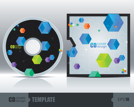 dvd cover: CD Cover Design Template Set 3. Vector