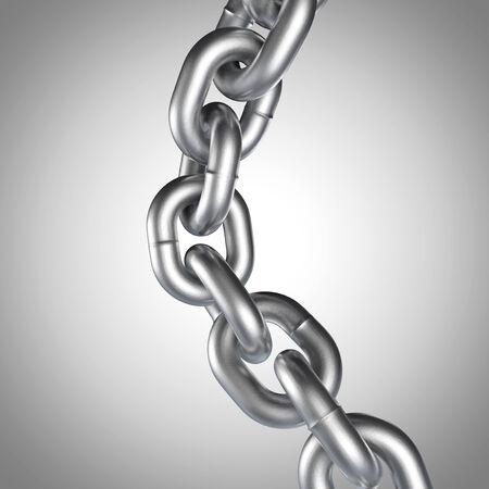 cadena rota: Cadena realista 3D Foto de archivo