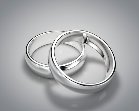 silver ring: 3D drawing realistic silver ring set 1