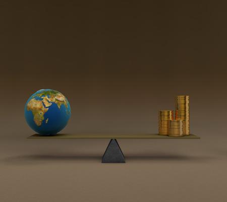 균형에 3D 개념적 이미지 시리즈